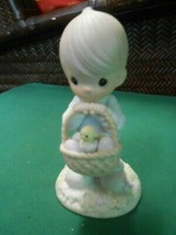"PRECIOUS MOMENTS Figure-""Wishing You a Basket Full of Blessings""FREE POS... - $14.44"