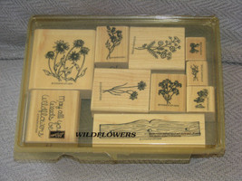 Stampin Up Wood Stamps 1999 Wildflowers Flowers May all your Weeds be Wildflower - $31.67