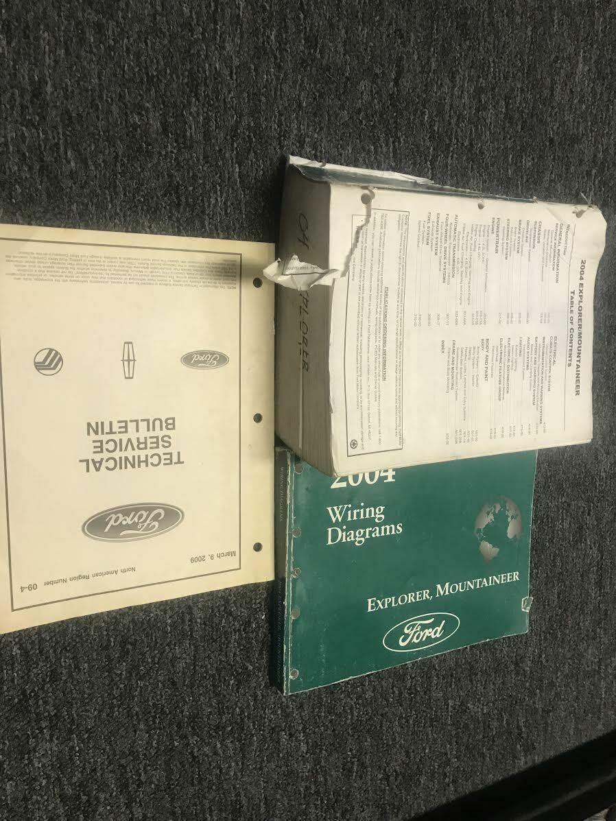 2004 Ford Explorer Mercury Bergsteiger Service Shop Reparatur Manuell Set (B Ewd