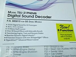 Soundtraxx 884810 Tsunami 2 TSU-21PNEM8 Sound Decoder GE Diesel, 8 Function image 2