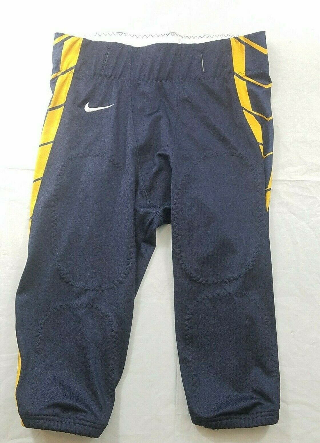 Primary image for Nike Football Pants Mens Large Navy Blue Yellow