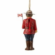 Jim Shore Canadian Mountie Uniform Hanging Ornament 6007879 Hat Flag Patriotic image 2