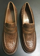 Bass Clovis Women's Loafer Slip on Woven Chunky Brown Shoes Size 8.5M - $39.99