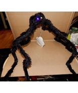 Giant Spider Halloween Hanging Decoration Realistic Hairy LED Eyes Gothi... - $9.49