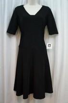 Anne Klein Dress Sz 4 Black A-Line Flare Sheath Career Cocktail Dress  - $24.18