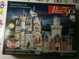 Rare Wrebbit 3D Neuschwanstein Castle Puzzle Luminous 834 Pieces (no light kit) - $51.36