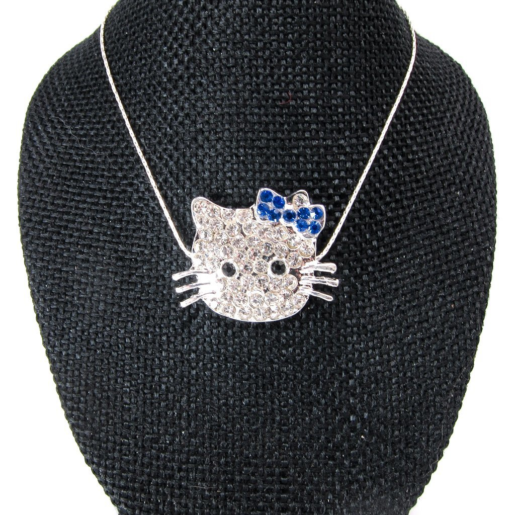 Sparkling Hello Kitty Necklace ~ Handmade