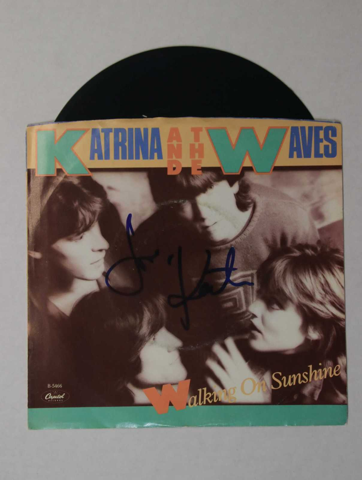 "Primary image for Katrina Leskanich Signed Autographed ""Katrina & The Waves"" 45 rpm Record Album"