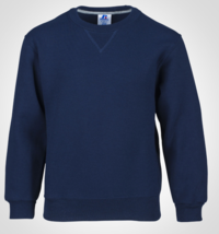 Russell Athletic Größe L Jugend Fleece Übung Gear Rundhals Sweatshirt Marineblau