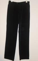 Gap black velvet pants holiday party Christmas-4 NEW - $23.05