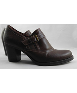 "Naturalizers N5 Comfort ""Deangela"" Women's Brown Buckle Pump Stacked Hee... - $29.99"