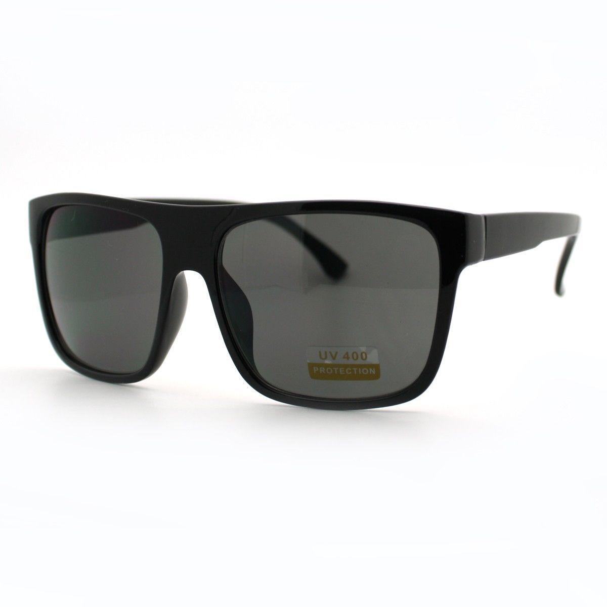 All Black Sunglasses Classic Square Fashion Shades for Men and Women