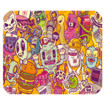 Mouse Pad Psychedelic Beautiful Abstract Art Paint Game Animation Fantasy - $6.00