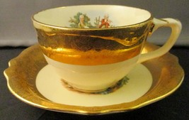 Vintage Homer Laughlin 22k Pacific China Colonial Cup and Saucer - $19.80