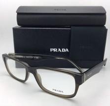 New PRADA Eyeglasses VPR 16M 0AQ-1O1 53-16 140 Olive-Olive Tortoise Frame