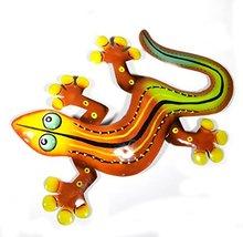 "WorldBazzar 12"" Beautiful Unique Orange Red Yellow Gecko Lizard Metal Garden Lan - $12.81"