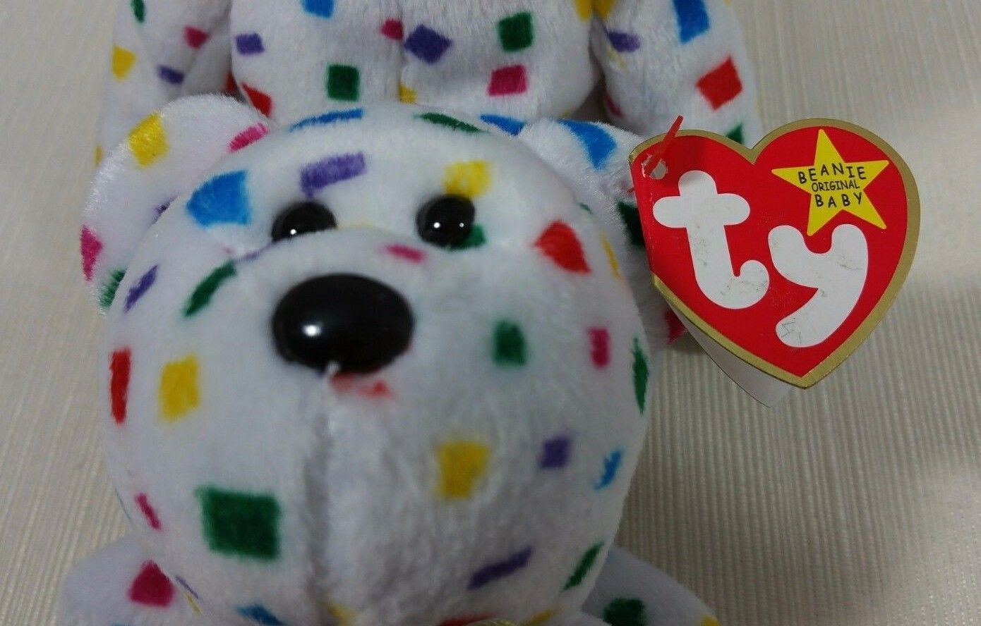 Retired Ty Beanie Babies Original Ty 2K Bear Style Number 04262 with Errors 681658b2fc58
