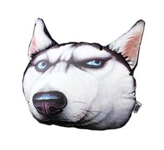 3D Cute Pet Dogs and Cats Face Head Pillow, Adorable Face