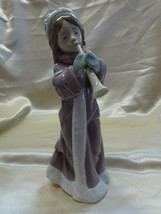 """Lladro Figurine """"The Christmas Song"""" Girl with Braids playing Horn #6532... - $119.00"""
