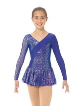 Mondor Model 667 Girls Skating Dress - Sapphire Size Child 6X-7 - $75.00