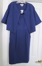 New Talbots 2-PC Dress Jacket Suit Poly Rayon Blend Blue Size 10 $188 - $69.94