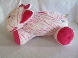 Stuffies Whisper Kitty Cat Plush Large White Pink Lots of Storage 20 in - $12.00
