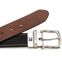 Tommy Hilfiger Men's Reversible Contrast Stitching Leather Belt 11TL08X009 image 6