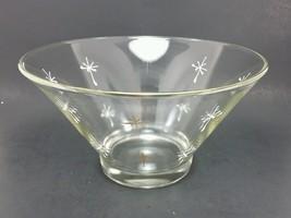 "Vintage 1960s Atomic Glass Bowl Large 10.75"" mid century vtg serving par... - $36.99"