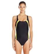 Speedo Women's PowerFLEX Eco Taper Splice Pulse Back One Piece Swimsuit ... - $59.95