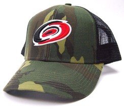 Carolina Hurricanes Reebok VF36Z NHL Team Logo Camo Trucker Hockey Cap H... - €18,50 EUR