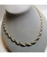 "STERLING SILVER Twisted Herringbone Ornate 18"" Length Chain Necklace 18.... - $34.64"