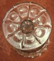 Vintage Standing Candy Dish Compote Open Stemmed Starburst Pattern image 5