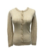 Tommy Hilfiger women's sweater cardigan polka dot button front size XS/T... - $19.14