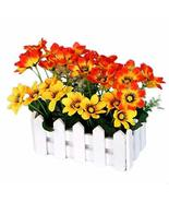 George Jimmy Artificial Flowers Arrangement Room Components Wood Fence F... - £20.67 GBP