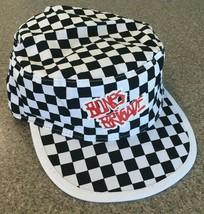 VANS Bones Brigade Checkerboard Black White Painters Hat Skateboarding - $23.75