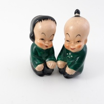 Asian Boy and Girl Salt and Pepper Shakers Japan image 4