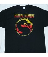 Mortal Kombat Video Game Name Over Distressed Dragon Logo T-Shirt NEW UN... - $14.50+