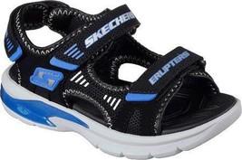 Skechers Boys' S Lights Erupters II Sandal,Black/Royal Blue,US 11 M - $60.75
