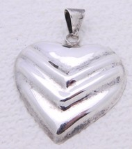 VTG TAXCO Mexico TV-53 .925 Sterling Silver Heart Necklace Pendant - $39.60
