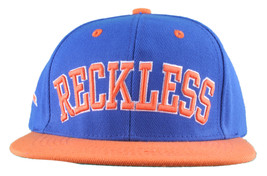 Young & Reckless La Bloque Azul Real Naranja Gorra Plana Snapback Nwt