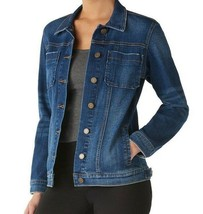 Rock & Republic Denim Jacket Womens XS Jean Blue Faded Wash Stretch Jean... - $24.88