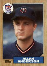 #336 Alan Anderson 1987 Topps Baseball - $1.75
