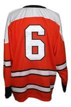 Custom Name # St Catharines Teepees Retro Hockey Jersey New Orange Any Size image 2