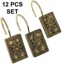 Carnation Carlisle Ceramic Resin Shower Curtain Hook,Antique Gold X 12,P... - $21.77