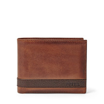 fossil man genuine Leather Quinn Passcase - $27.00