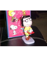 """5 1/2"""" Peanuts Marcie Porcelain Figurine With Box By Flambro Imports 1998 - $46.74"""
