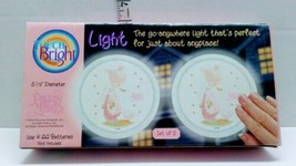 """Precious Moments Touch Bright Set Of Two Lights 5.5"""" Diameter Retired  - $10.00"""