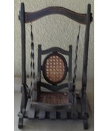 Antique Doll Swing - All Wood Construction with Wrought Iron Support - C... - $148.49