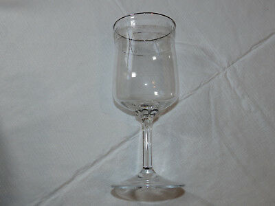 "Primary image for Lenox Crystal Moonspun Wine Stem Etched Glass 6 1/4"" Tall stemmed water goblet #"