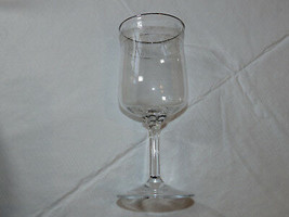 "Lenox Crystal Moonspun Wine Stem Etched Glass 6 1/4"" Tall stemmed water ... - $18.81"
